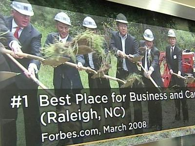 "In March, Raleigh claimed the top spot on Forbes magazine's ""Best Places for Business and Careers"" list."