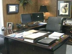 Robeson Community College President Charles Chrestman's office on Sept. 23, 2008.