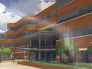 An artist's rendering of the downtown Raleigh building where Campbell University plans to move its Norman Adrian Wiggins School of Law in 2009.