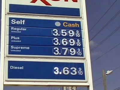 Prices at the South Hill, Va. Exxon station on Oct. 7, 2008.