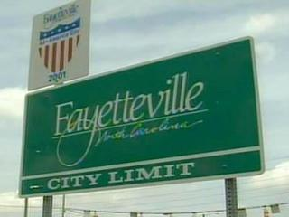 Fayetteville city limit sign
