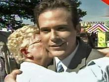 WRAL's Brian Shrader hugs it out at State Fair