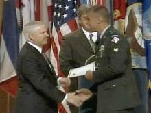 During a Thursday visit to Fort Bragg, Defense Secretary Robert Gates helped swear in 41 foreign-born members of the U.S. armed forces as citizens.