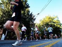 For the second annual City of Oaks Marathon, thousands of runners made their way from N.C. State's Centennial Campus to downtown Raleigh to Umstead State Park.