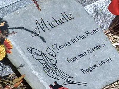 A graveside memorial was held Sunday, Nov. 2, 2008, for Michelle Young at Wake Memorial Park in Cary.