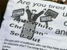KKK fliers dropped on people's lawns