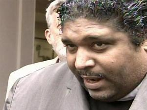 State NAACP President Rev. William Barber talks to the media Nov. 12, 2008, after meeting with N.C. State's chancellor.