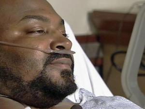 Joseph Rodney Puryear, 41, of Roxboro, is recovering at Duke University Medical Center after he blacked out while driving home on Old Roxboro Road, near Oxford, around midnight Monday, Nov. 10, 2008. He spent 10 hours in freezing temperatures and cold water before a nearby resident saw him finally manage to crawl out of the creek.