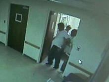 9 p.m.: Staff remove Sabock from day room; he leaves the hospital on a stretcher