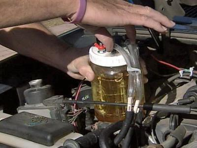 Fred Tutwiler built his own hydrogen-based fuel-boosting system for his 1997 Ford Explorer.