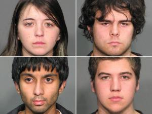 From top left, Allegra Rose Dahlquist, Ryan Patrick Hare; from bottom left, Aadil Shahid Khan, Drew Logan Shaw