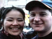 Cynthia Qiu and her husband Michael Leonforte. Leonforte was killed Sept. 5, 2006.