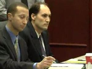 Brad Cooper, right, sits in court with his defense attorney, Howard Kurtz, during a Dec. 5, 2008, hearing in which prosecutors announced they do not plan to seek the death penalty. Cooper is charged with murder in the July 12, 2008, slaying of his wife, Nancy Cooper.