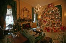 Photographer Chad Flowers went inside the governor's mansion to see the holiday decorations.