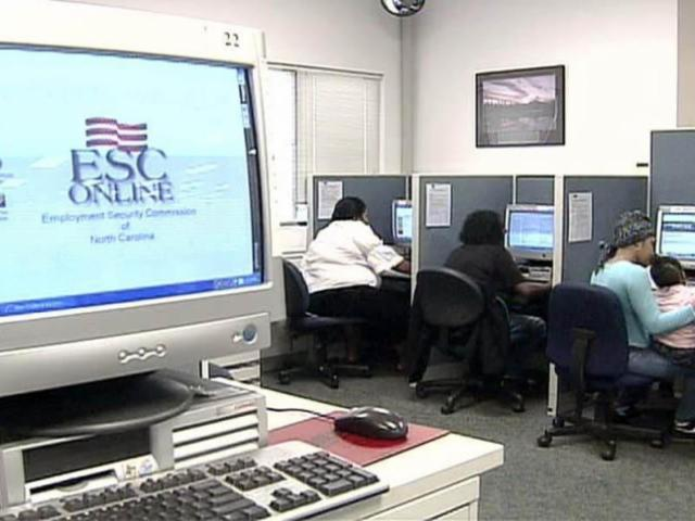 Growing numbers of N.C. residents are searching for work and collecting unemployment benefits at Employment Security Commission offices.<br/>Photographer: Terry Cantrell