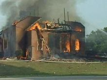 Fire swept through the sanctuary of the Union Chapel United Methodist Church last year.