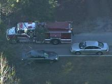 Sky 5: Aftermath of police chase in Johnston Co.