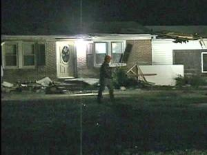 A tractor-trailer hit an icy patch on Warrenton Road in Henderson and slid into a house shortly after midnight Saturday, Jan. 3, 2009.