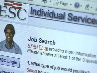 The Web site of the North Carolina Employment Security Commission was down for most of Monday because of the overwhelming number of people who tried to file unemployment claims.