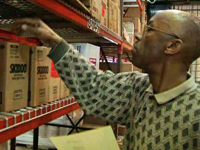 Jimmie Upchurch, of Welsh Paper Company in Youngsville, is trained in shipping and receiving, but has been doing more work outside of his field.