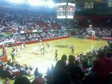 The N.C. State women's basketball team plays against Boston Coll