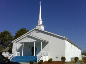 New Calvary Missionary Baptist Church, off U.S. 301 south of Fayetteville, was broken into early Feb. 5, 2009.