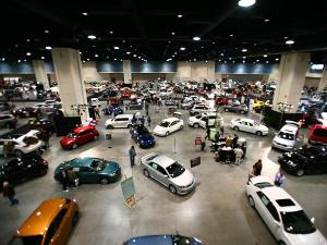 This is the first view visitors get when they enter the Auto Show.