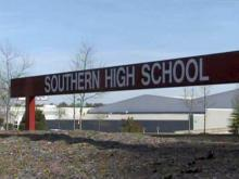 Southern High School sign