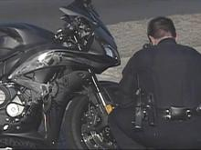 Sgt. Victor Sencion's motorcycle