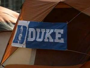 Students who shared a tent with a Duke freshman diagnosed with meningitis had to receive antibiotic treatment, officials said.
