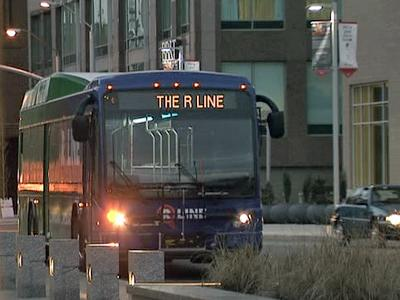 The first deployment of mobile digital television is on Raleigh's downtown R Line bus, which commuters can ride for free.