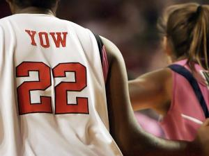 Each N.C. State player honored Yow by wearing her last name on their own jersey.