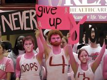 An emotional Hoops 4 Hope event was held Sunday afternoon at Reynolds Coliseum as the North Carolina State women's basketball team beat Virginia 60-54.