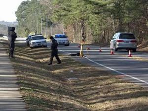 Garner police found a woman on the shoulder of Aversboro Road in Garner on Tuesday morning.
