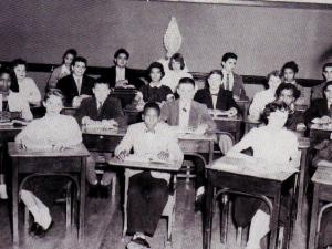 Cathedral Latin High School students in 1956 (Photo courtesy of Cardinal Gibbons High School.)