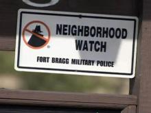 Fort Bragg neighborhood watch sign