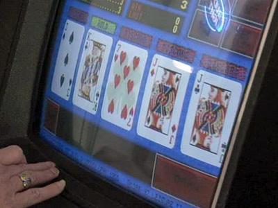 A video poker machine