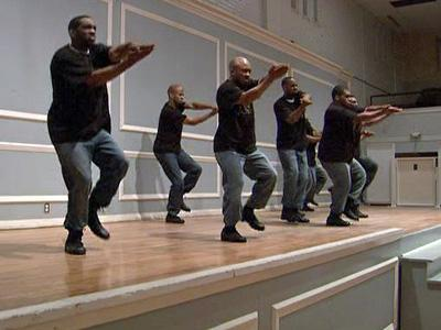 Performers participate in a step competition in Durham to recognize National Black HIV and AIDS Awareness Day on Feb. 20, 2009.