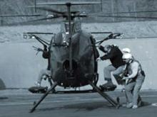 A photo from the Blackwater/Xe Web site shows a helicopter being used during training.