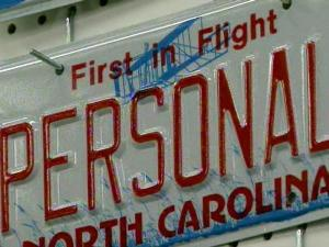 Embossed license plate