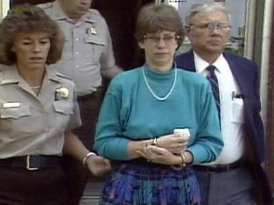 Barbara Stager is led from the Lee County Courthouse following her 1989 conviction in the murder of her second husband.