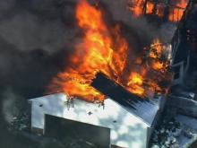Fire rips through Raleigh house