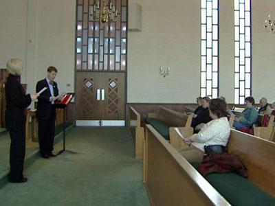 """People participate in the midweek prayer service """"Tuesdays for Troubled Times,"""" which was created at St. Mark's United Methodist Church in Raleigh."""