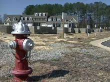 A housing slump in Fuquay-Varina has left many empty lots in the city.