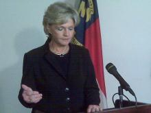 Gov. Bev Perdue announces her plan to reform the probation system.