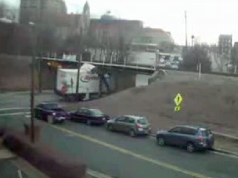 Man's website shows trucks hitting Durham bridge :: WRAL com