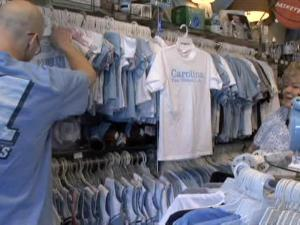 The NCAA Tournament only ratchets up sales of Tar Heel merchandise at The Shrunken Head, on Franklin Street in Chapel Hill.