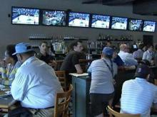 A Raleigh sports bar is packed on March 19, 2009, as people watch the NCAA tournament.