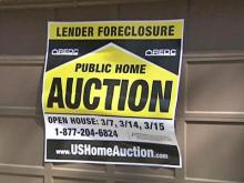 Homes were auctioned off Sunday at the Raleigh Convention Center.
