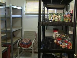 Shelves are hardly stocked at the Community Helpers Service Center in Knightdale. The food pantry has seen a surge in recent months of the number of families seeking food.